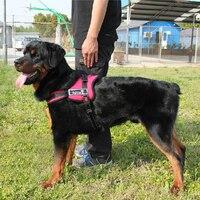Hot Selling Grote Hond Harnas Vest Zachte Gevoerde Ajustable Sport Werken Training Borst Bandjes Honden Halsbanden Nylon Voor Pitbull