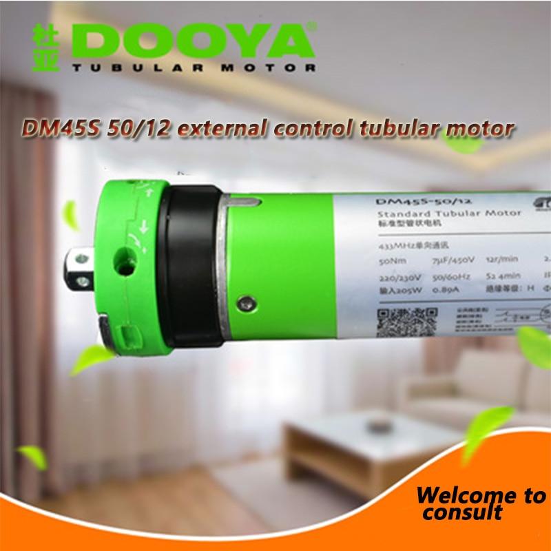 DooyaHigh Quality Original  Tubular Motor DM45R/DM45S Motor For All Kinds Rolling Blinds 220v 50HZ 433MHZ