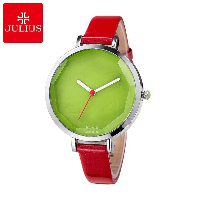 Hot 2017 Girls lovely Jelly watch women dress rhinestone watches fashion casual quartz watch leather wristwatch Julius 534 clock