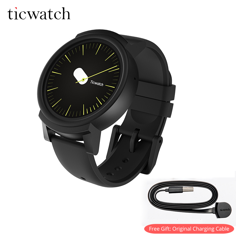 Ticwatch E Regalo Libero-Cavo di Ricarica Intelligente Wearable Bluetooth Tracker Android Usura WIFI GPS Del Telefono Smartwatch IP67 Impermeabile