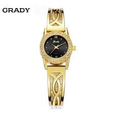 Бесплатная доставка золотой браслет женские часы 3atm часы женщин с CZ камень часы для женщин