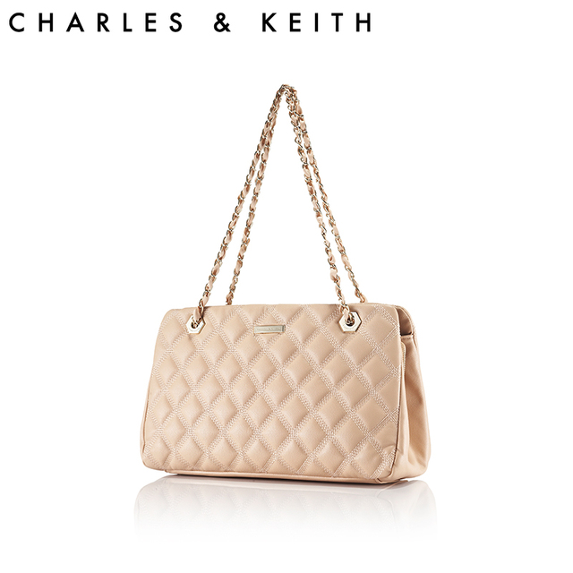 Charles keith women s all-match classic check chain shoulder bag  ck2-20740848