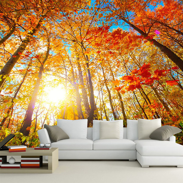 custom 3d wallpaper for wall nature scenery wall mural roll forest