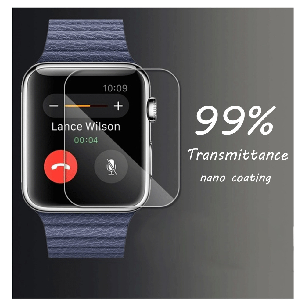 CRESTED Tempered glass protective film for apple watch 42mm/38 Anti-Shock Transparent Screen Protector film for iwatch 1 2 transparent allcall bro glass film