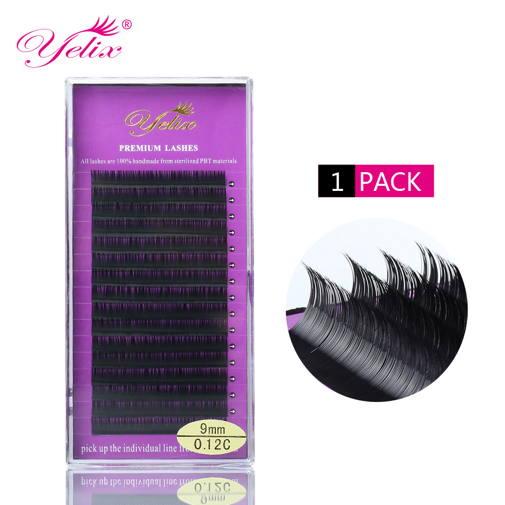 Individuele valse wimpers extensie natuurlijke nep wimper wimpers nertsen wimper extensie zwarte lash set private label make-up