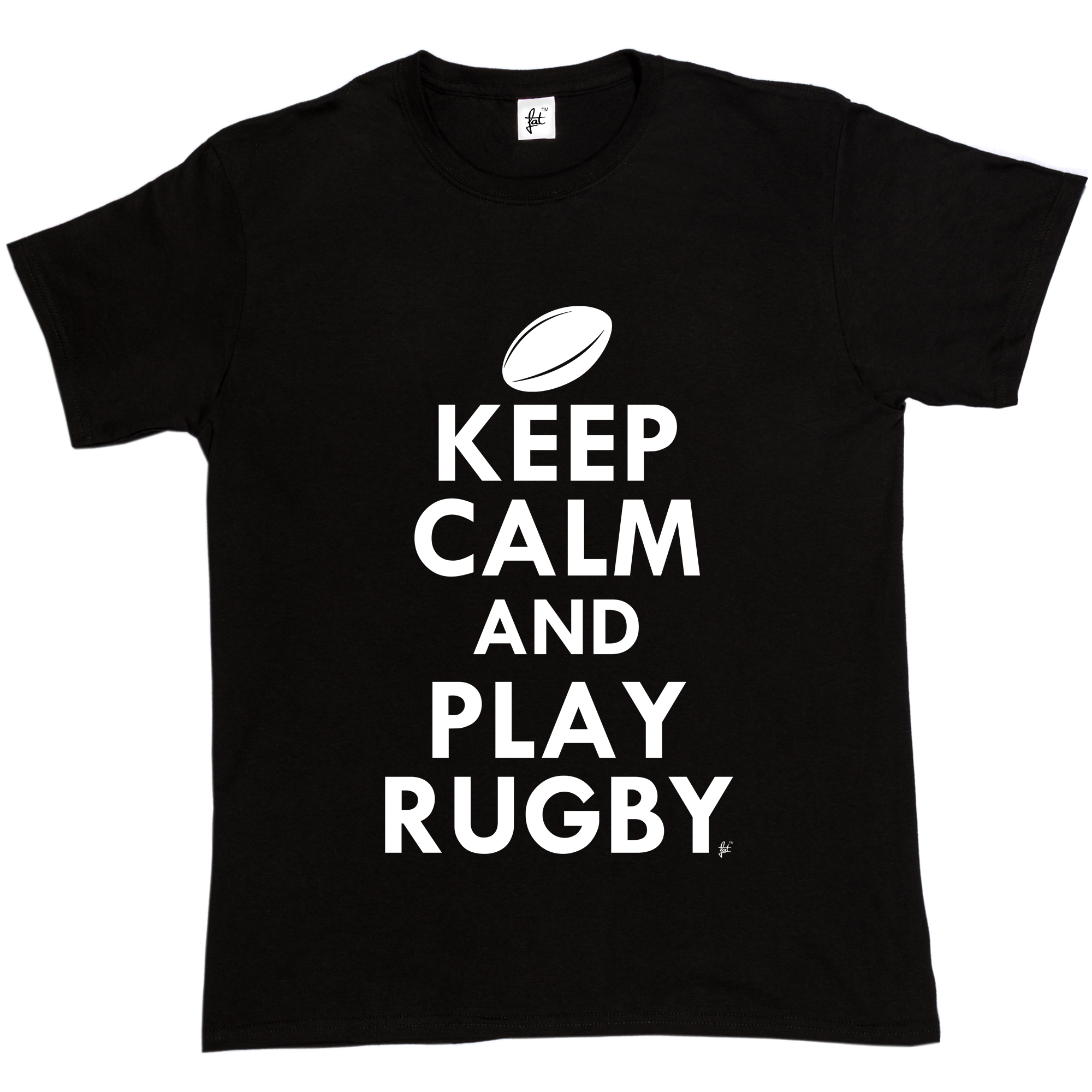 Design t shirt rugby - T Shirt Design Website Crew Neck Short Keep Calm Amp Play Rugbyer Rugby Ball Graphic
