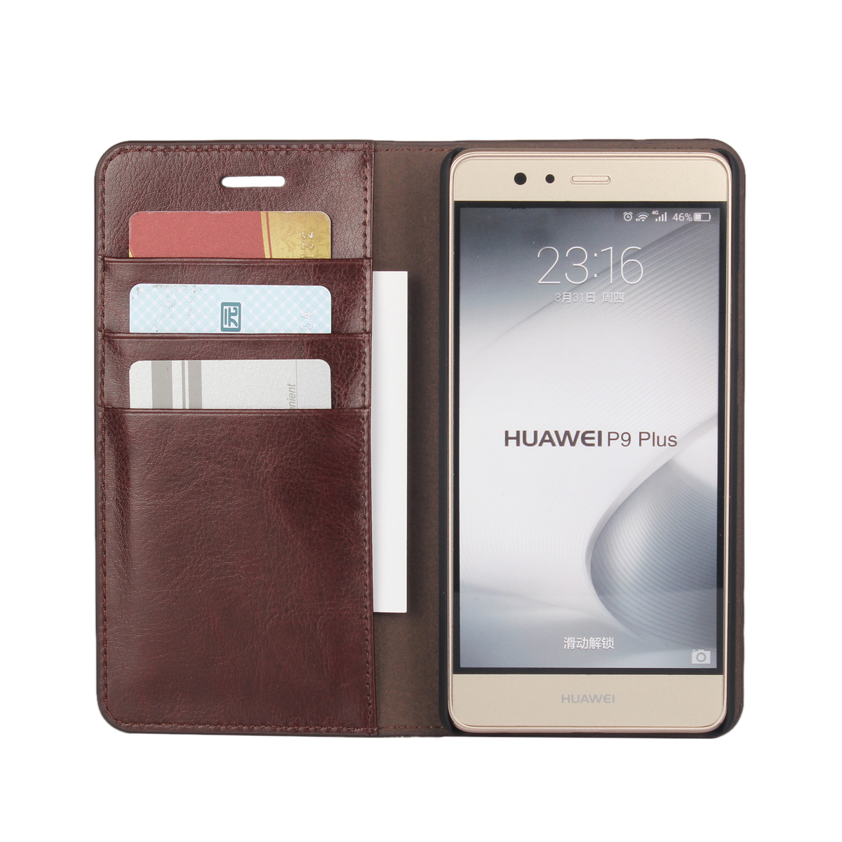 super cheap 16618 ef415 US $10.79 10% OFF|Deluxe Wallet Case For Huawei Ascend P9 Lite premium  leather Case Huawei P9 Lite 5.2
