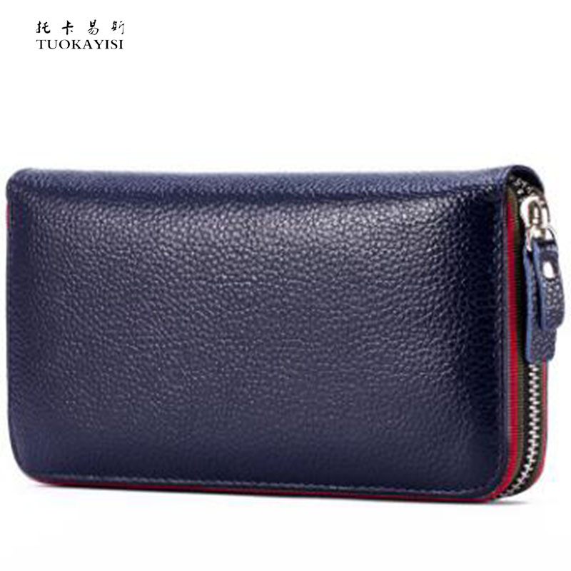 100%Genuine Leather Women Designer zipper Ladies Purse new style Wallet Female Card Holder Long Coin Purse Hot Sale small bag