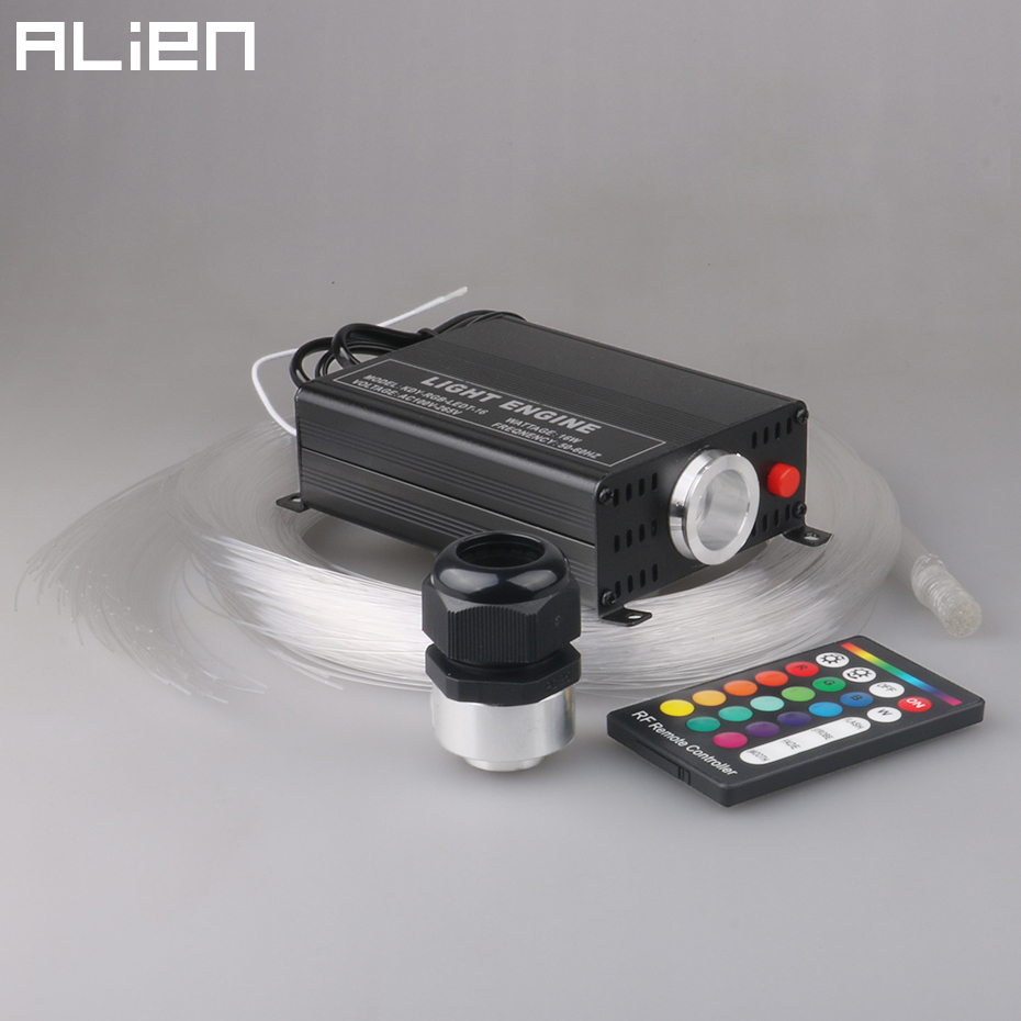 hight resolution of alien 16w rgbw 16 color changing led optic lights star ceiling kit light 150pcs 0 75mm
