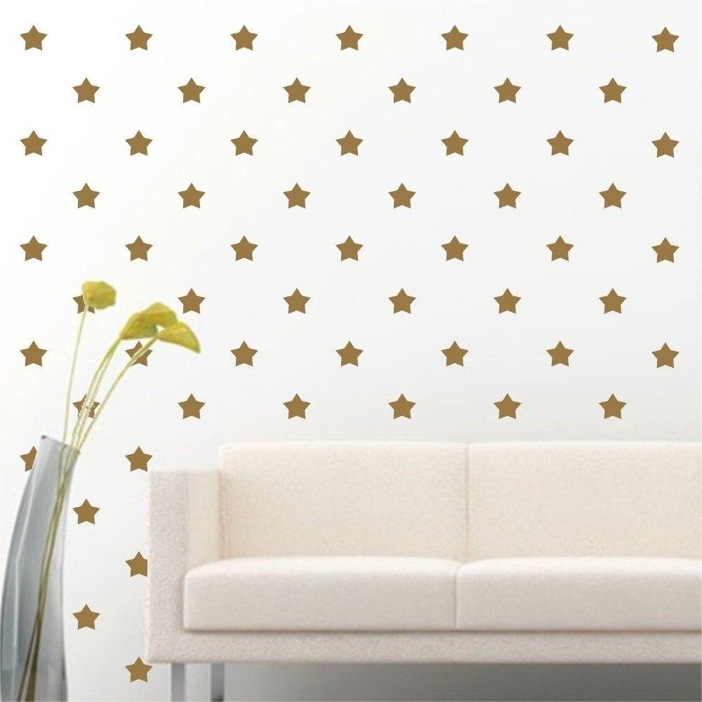 180 ks / sada Little Gold Star wall Sticker Star Wall Stickers Vyjímatelná domácí dekorace umění Lepicí obrazy na stěnu Doprava zdarma S-3