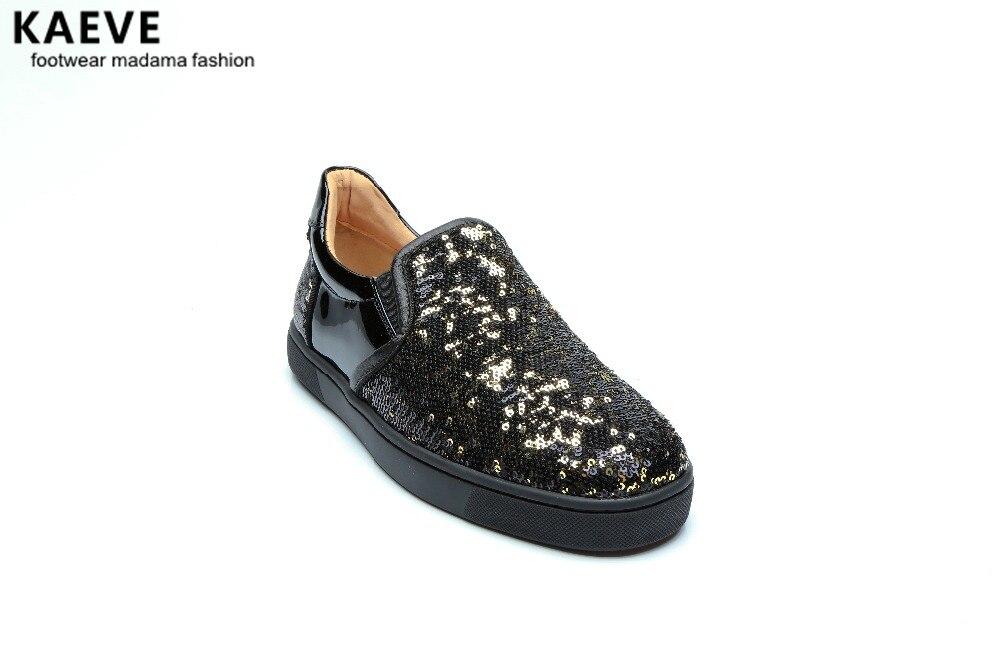 Mariage En Pantoufles Mode Sneakers Bling Plate forme Hommes Glissement Rond Banque De Cuir Casual Mâle Bout Mocassins Chaussures D'été Sequin dBerxQCoW