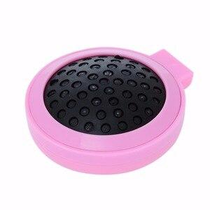 Image 5 - Poche ronde Portable petite taille voyage Massage pliant peigne fille brosse à cheveux avec miroir outils de coiffure 3 couleurs