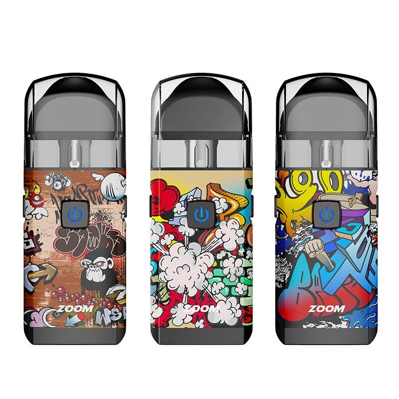 Augvape ZOOM POD Vape Kit with Built-in 1000mAh Battery 3.2ml Capacity Pod 0.6ohm Mesh Coil Pod Starter Kit Electronic Cigarette