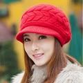 Korean Winter Hat Lady's Fashion Skullies & Beanies Female Drape Delicate Women Hat 8 Solid Color For Woman Caps Hat Women Q600