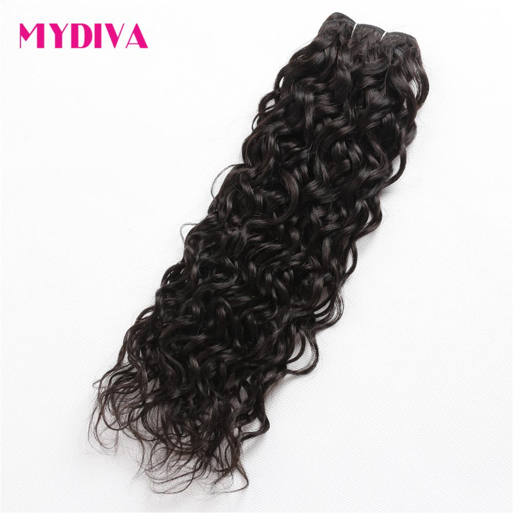 Peruvian Water Wave Bundles 100% Human Hair Weave Bundles Non Remy Hair Extensions 1 PC  ...