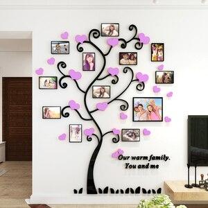 Image 3 - Autocollant mural avec miroir en acrylique, décoration murale originale pour salon et photo en 3D