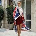 130*130 cm de gran tamaño de las señoras 100% pañuelos de seda twill 2017 marca correa de cadena patrón de empalme de impresión digital de seda bufanda de las mujeres