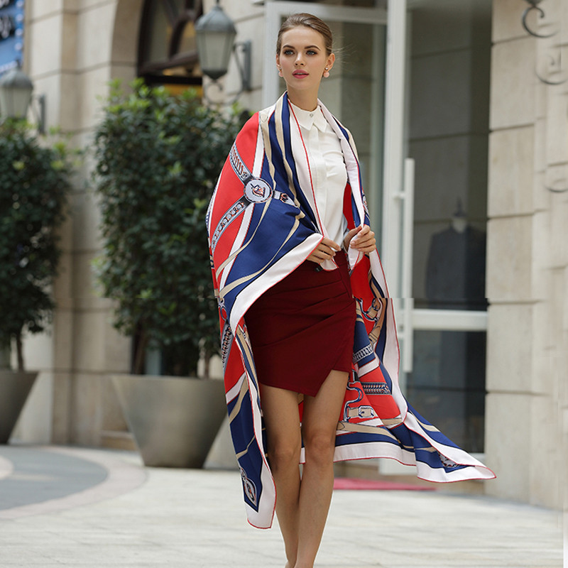 130*130cm large size ladies 100% twill silk scarvess