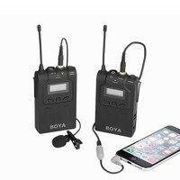 Беспроводные ПЕТЛИЧНЫЕ микрофон микрофонный передатчик приемник для DSLR видеокамеры Аудио рекордер GDeals