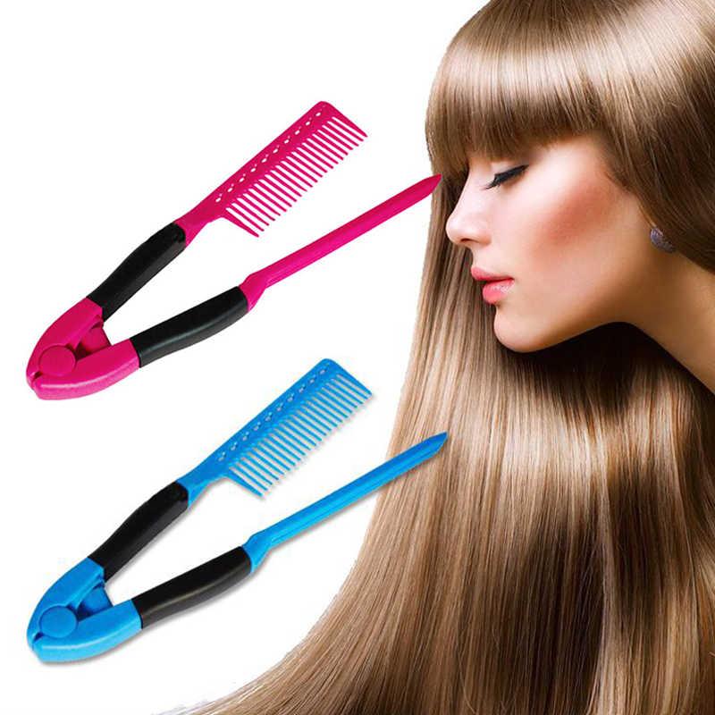 1 pc V Loại Tóc Ép Tóc Comb DIY Salon Cắt Tóc Làm Tóc Tạo Kiểu Tóc Công Cụ Anti-static Combs Cọ Salon Vẻ Đẹp nguồn cung cấp