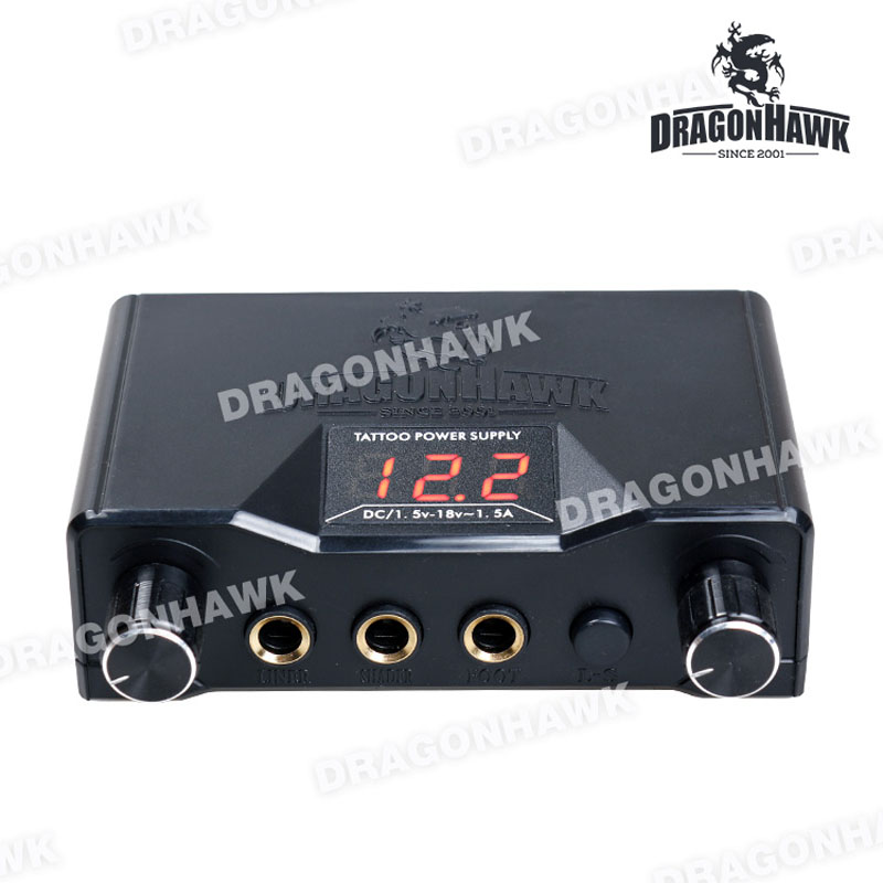 Dragonhawk Lcd Dual Tattoo Machine Gun Power Supply P069 In Tattoo