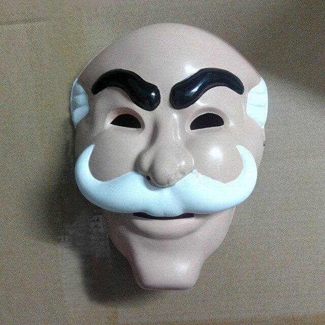 haut de gamme pas cher large choix de designs sélectionner pour le dédouanement US $11.27 6% OFF|White Beard Old Men Mask Salvador Dali Face Masks  Anonymous Team Evil Hacker Group V TV Cosplay for Adults-in Party Masks  from Home & ...