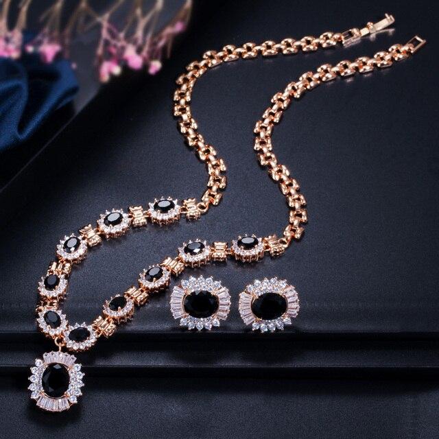 Купить набор свадебных украшений cwwzircons круглые серьги и ожерелье картинки