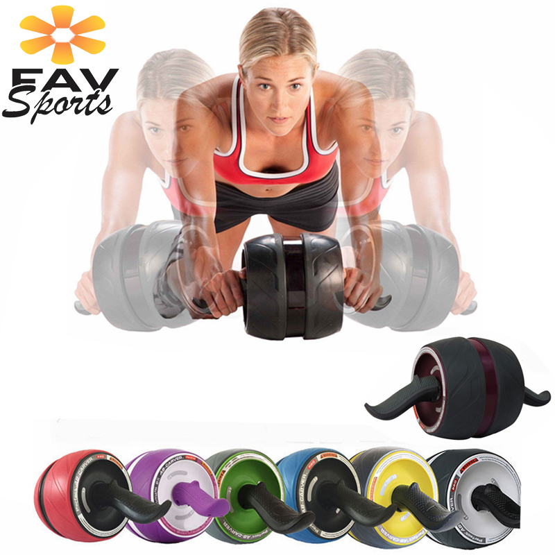 Favsports AB rouleaux sans bruit roue abdominale AB rouleau Crossfit entraîneur musculaire exercices rouleau Fitness corps façonnage tapis gratuit