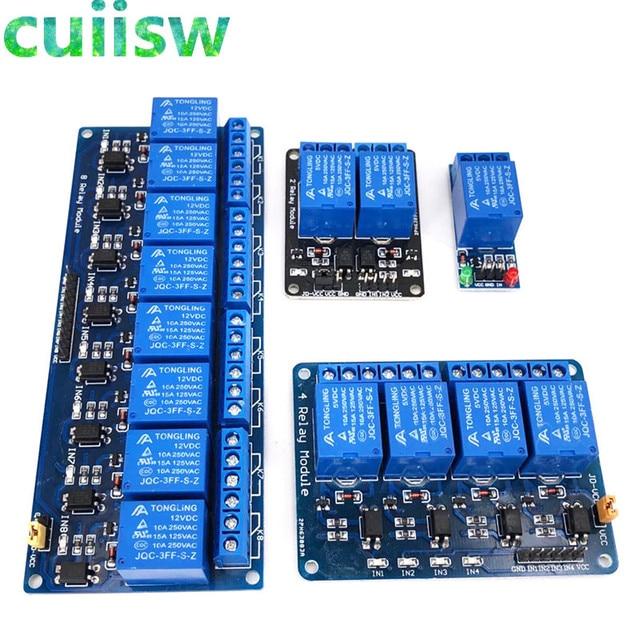 1 2 4 8 kanal DC 5 v Relais Modul mit Optokoppler Low Level Trigger Expansion Board für arduino