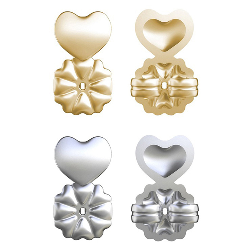 High Quality Magic Back Support Earring Comfortable Lifts Wedding Heart Earrings Set Gold Earring Jewelry Accessories