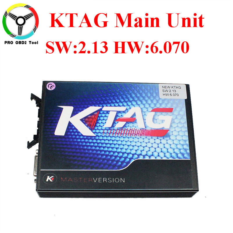 Online Master 6.070 KTAG Main Unit V6.070 V2.13 ECU Tuning Programmer K TAG No Token Limit K-TAG For Car Truck Free Shipping