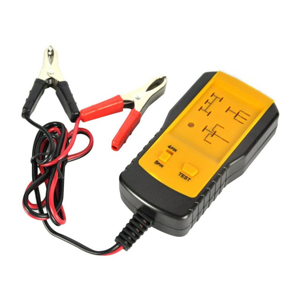 Professional 12V 4 Pin 5 Pin Cars Relay Tester Yellow&Black Practical Relay Analyzer For Automotive Diagnostic Tools Hot Selling