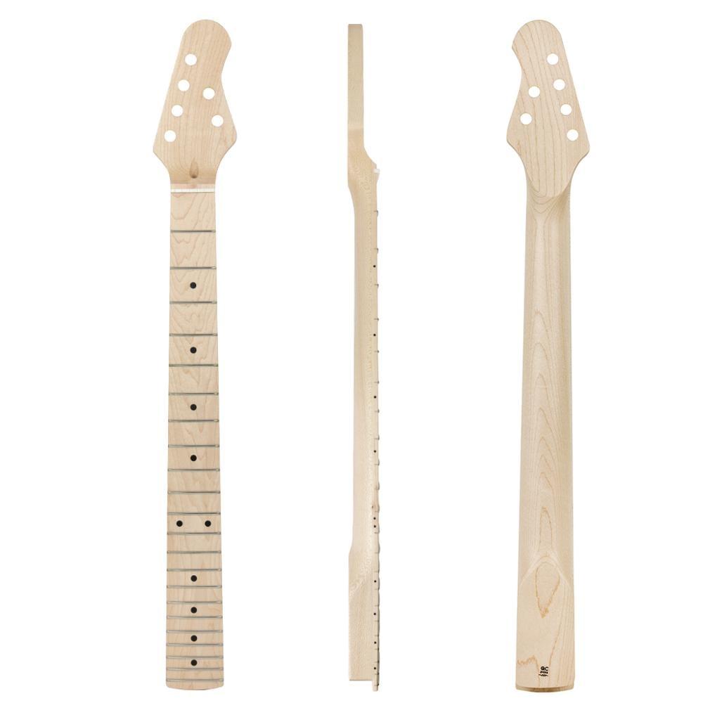 Kmise guitare électrique cou Canada érable 22 frettes boulon sur C forme Satin clair