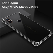 Ultra Thin Clear Transparent Case For Xiaomi Mi Mix 3 case mix 2s TPU silicone 360 Full protective Cover for MiX2