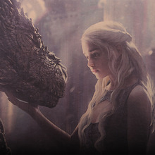 Daenerys & Dragon's Vintage Kraft paper poster wall sticker 50.5X35cm