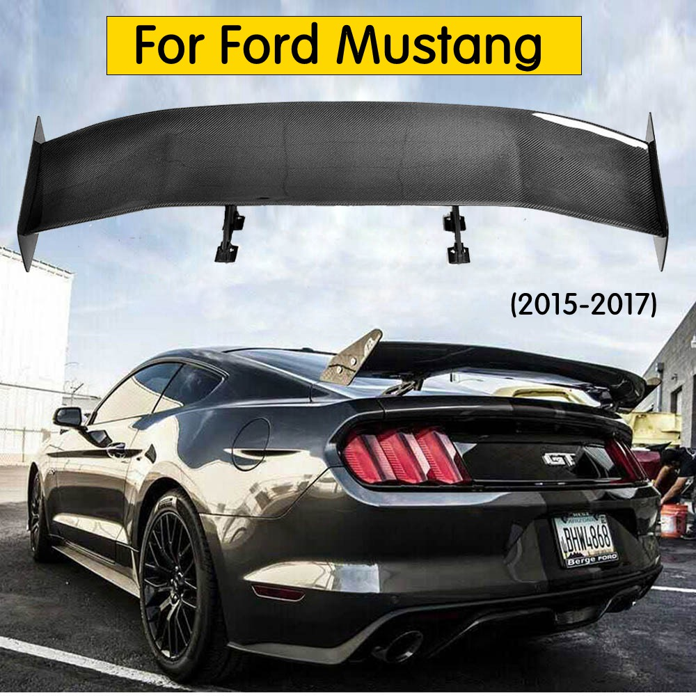style top quality real Carbon fiber Car Rear Trunk Spoiler Wing For Ford Mustang 2015-2018 coupe modelsstyle top quality real Carbon fiber Car Rear Trunk Spoiler Wing For Ford Mustang 2015-2018 coupe models