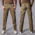 Venta caliente de gran tamaño masculino de los hombres de Hip Hop pantalones pantalones multibolsillos hombres pantalones casuales pantalones canter cómodo delgado