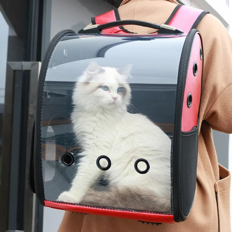New Design Portable Pet Cat Backpack Transparent Capsule Breathable Cat Bag Outdoor Travel Dog Cat Backpack Puppy Carrying Cages