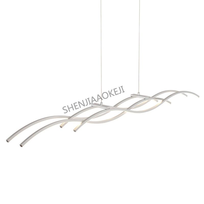 Creative personality chandelier 26W Modern work office lighting Simple LED restaurant light aluminum body 110 240V