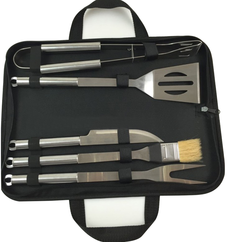 New Arrival BBQ Barbecue Tool Sets Combination Set Stainless Steel Pipe Barbecue 460829