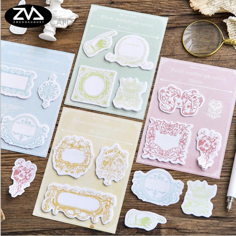 1X Greek mythology message memo stickers series memo pad paper sticky notes post kawaii Korean stationery School Supplies