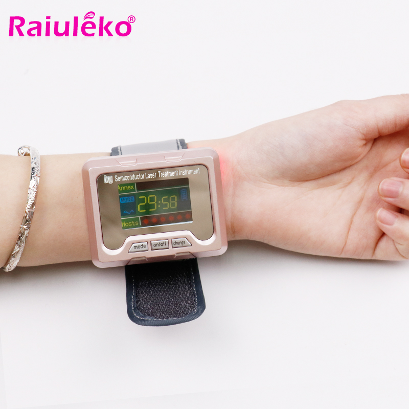 Physiotherapy healthcare 650nm laser healthy laser therapy instrument to treat hypertension diabetes rhinitis cholesterol