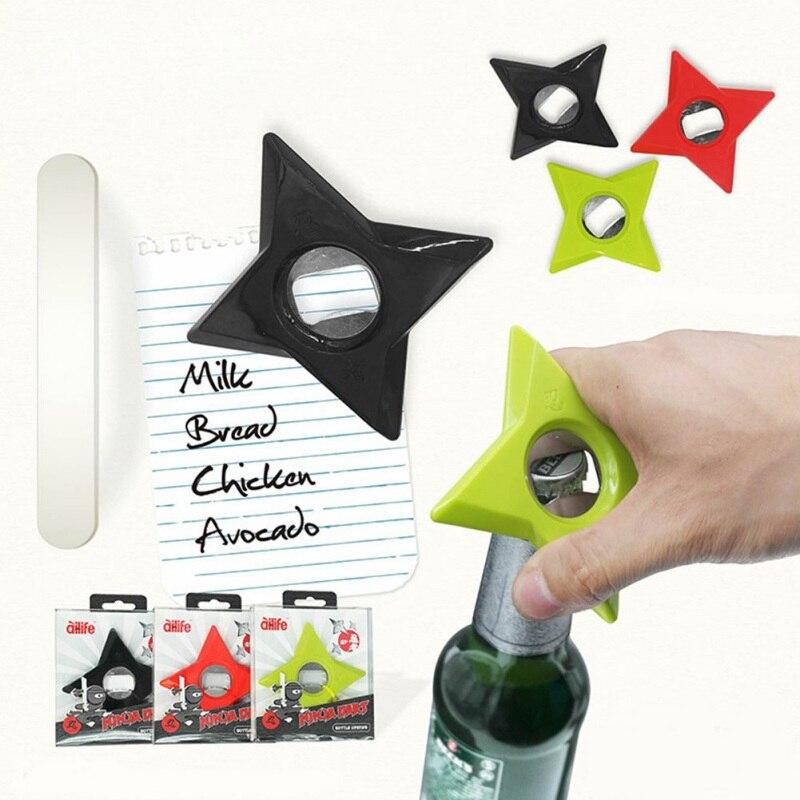 Bottle Openers Ninja Darts Beer Bottle Cap Opener Fridge Magnet Bar Tool Gift Home Decor Portable Ring Keychain Magnets