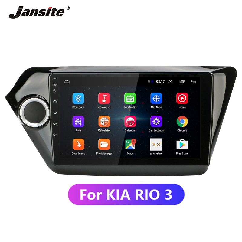 Jansite 9 Car Radio Multimedia Player for KIA RIO3 2011 2016 IPS Touch Screen 4G Android