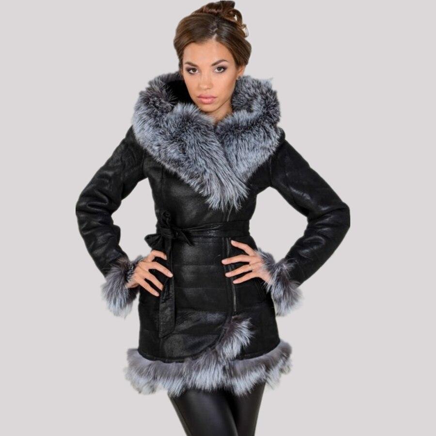Fournisseur direct d'usine 2017 nouvelles femmes de manteau de mode Faux fourrure de renard à capuchon chaud d'hiver grande taille de haute qualité marque en daim en peluche