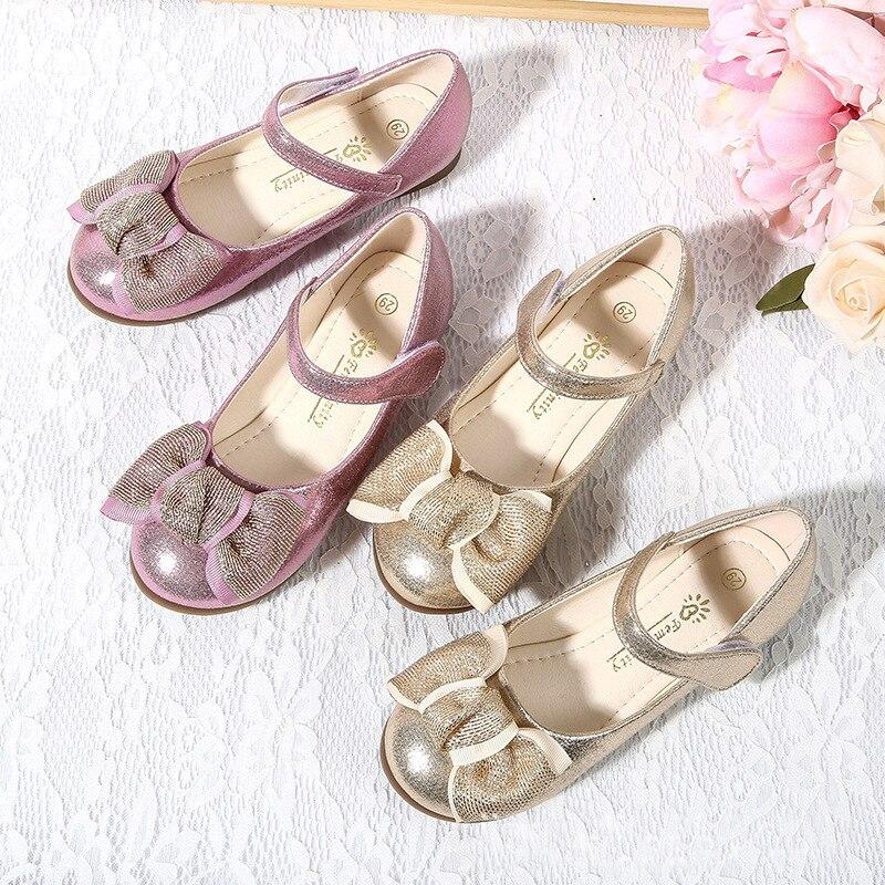 iyeal sapatas da mola das criancas qualidade da moda criancas lantejoulas meninas princesa unico sapatos com