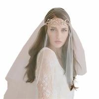 Romantic White Short Wedding Veils With Comb Bridal Veil Veu De Noiva Longo Wedding Decoration Wedding