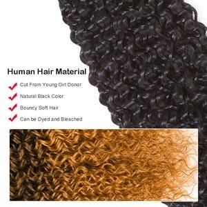 Image 3 - Beaudiva produtos de cabelo 100% feixes de cabelo humano malaio com fechamento kinky curly cor natural 3 pacotes com 4x4 fechamento do laço
