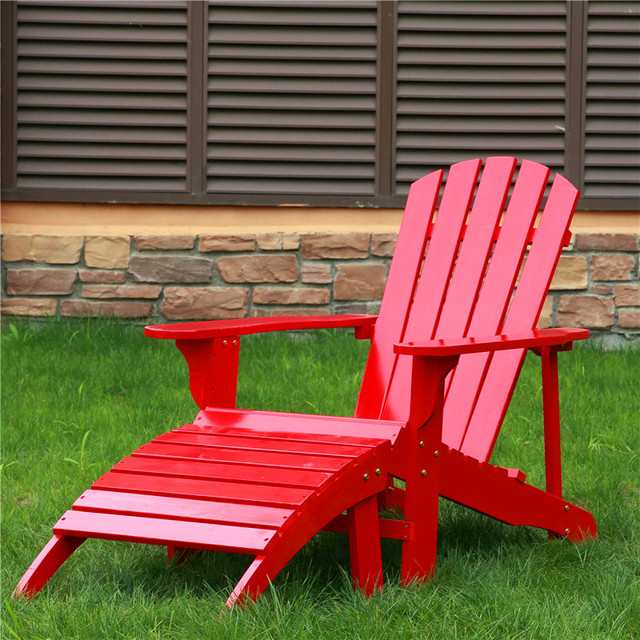 Free Shipping Outdoor Furniture Wood Folding Beach Camping Adirondack Chair  2017new Red
