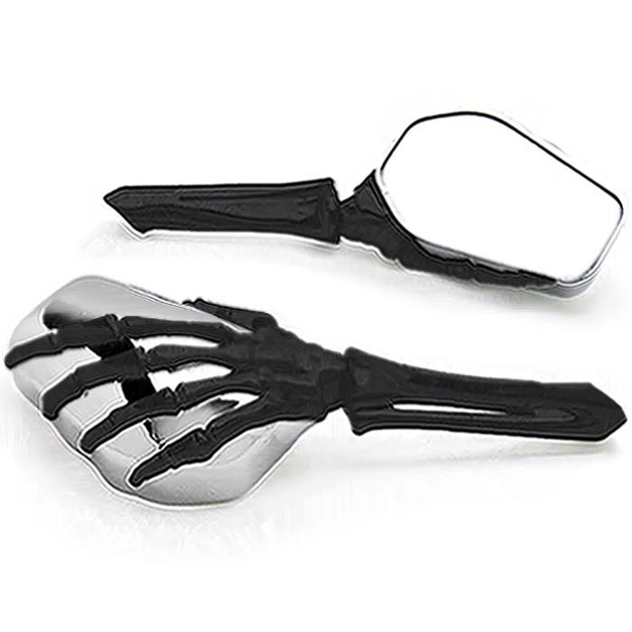 Free Shipping Black/Chrome Skeleton Hand Motorcycle Mirrors For HARLEY DAVIDSON SKELETON SKULL HANDS SETFree Shipping Black/Chrome Skeleton Hand Motorcycle Mirrors For HARLEY DAVIDSON SKELETON SKULL HANDS SET
